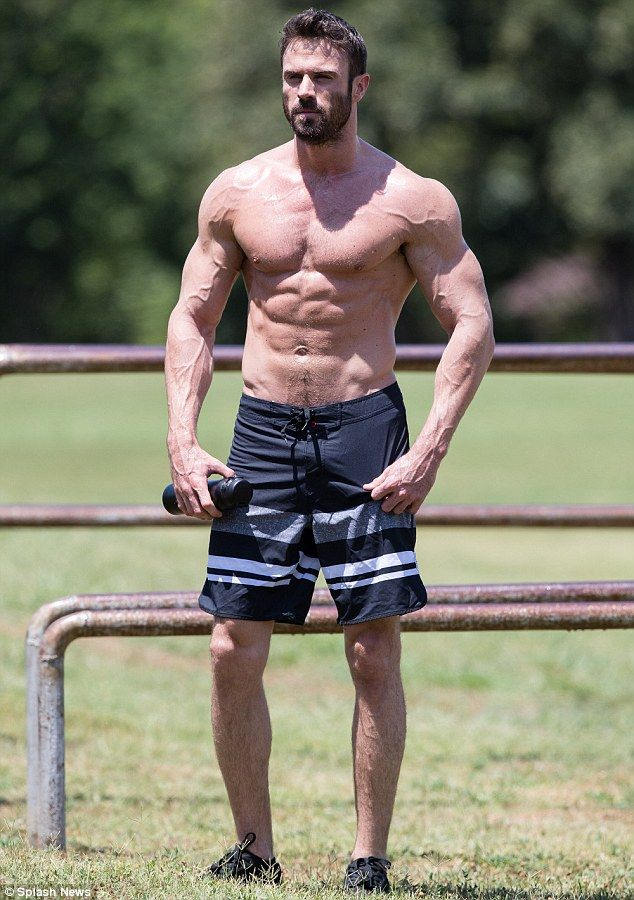 cb3f7403 Chad Johnson flaunted his insanely ripped body as he worked out shirtless  at a local park in Tulsa, Oklahoma on Monday