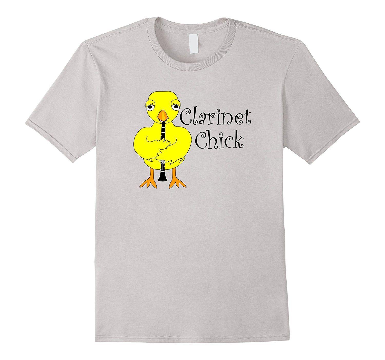 Clarinet Chick Text Musical Instrument T Shirt