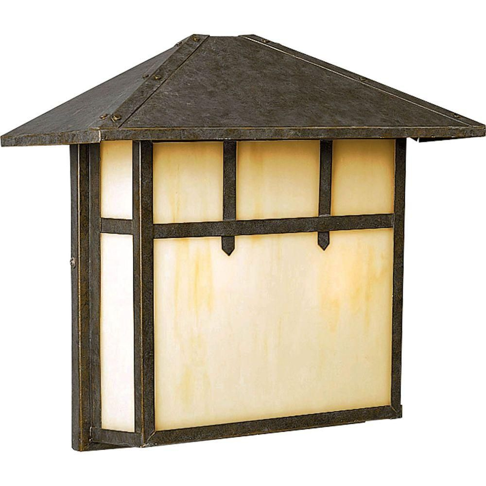 Mission Collection 2-Light Weathered Bronze Wall Lantern   Walls ...