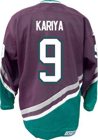 74d6a2fa6 ... Nhl jerseys · Anaheim Mighty Ducks VINTAGE Paul KARIYA 9 C Official CCM  Purple Throwback Premier ...