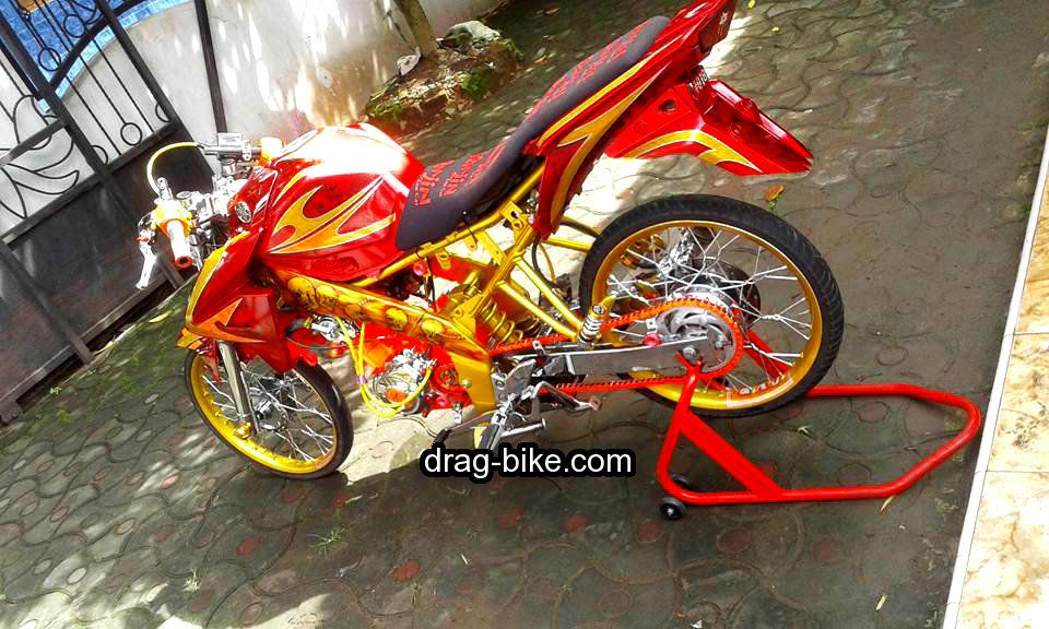 Modifikasi Vixion Modif Thailook Style Street Racing Ban Kecil