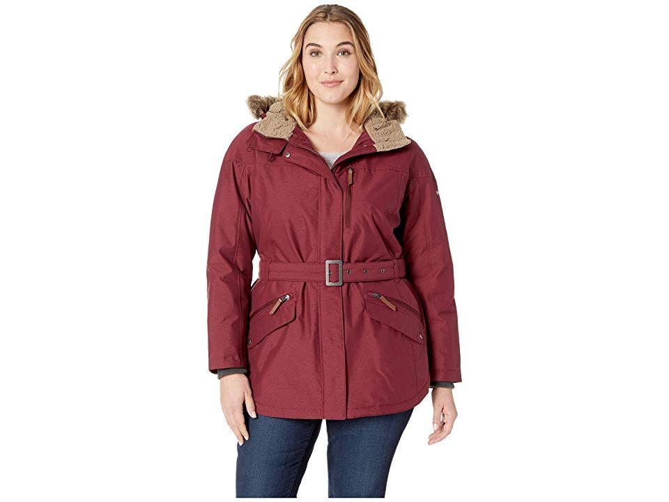 5df83b450e1 Columbia Plus Size Carson Pass II Jacket (Rich Wine) Women s Coat ...