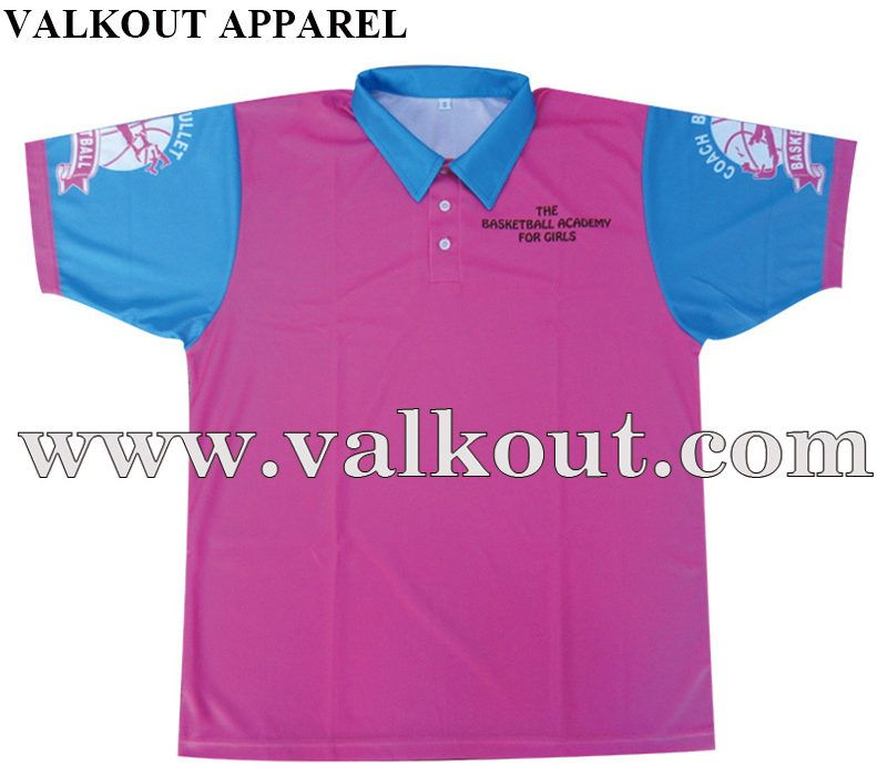 huge discount 7ffaa 287dc Sublimated Transfer Printing Dry Fit Custom Polo Shirts With ...