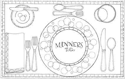 coloring pages for manners - photo#36