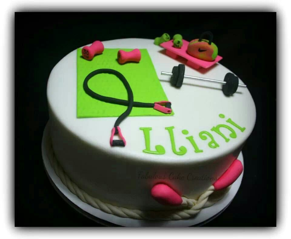 Cake Designs For Gym : Gym cake Fabulous Cake Creations Pinterest Gym, Gym ...