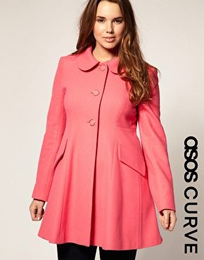 f9726dd3f13 ASOS CURVE Sugarland A-Line Coat  163.62 Plus size coat by ASOS CURVE.  Crafted in a wool mix fabric. Featuring a Peter Pan collar