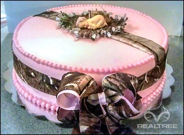 It S A Great Idea For Hunting Camo Baby Shower Cake Realtreecamo
