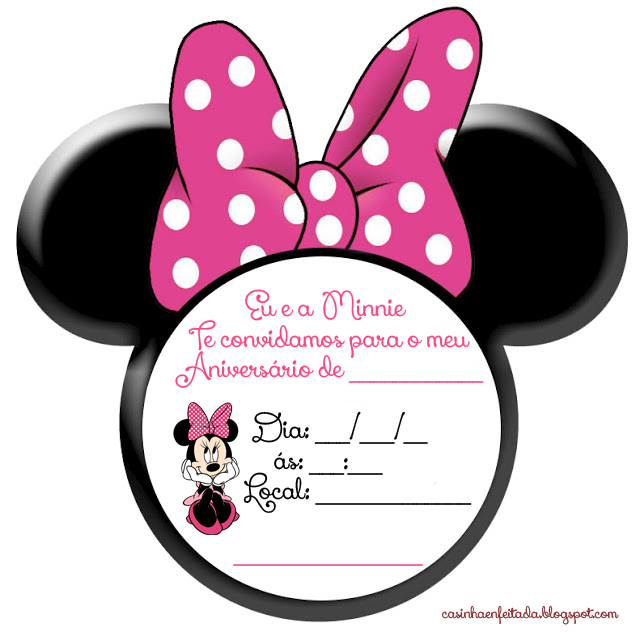 Kit festa minnie rosa preto e pink anniversaire mickey - Kit anniversaire minnie ...
