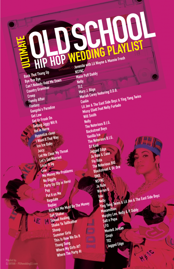 Ultimate Old School Hip Hop Wedding Playlist Most Requested Songs