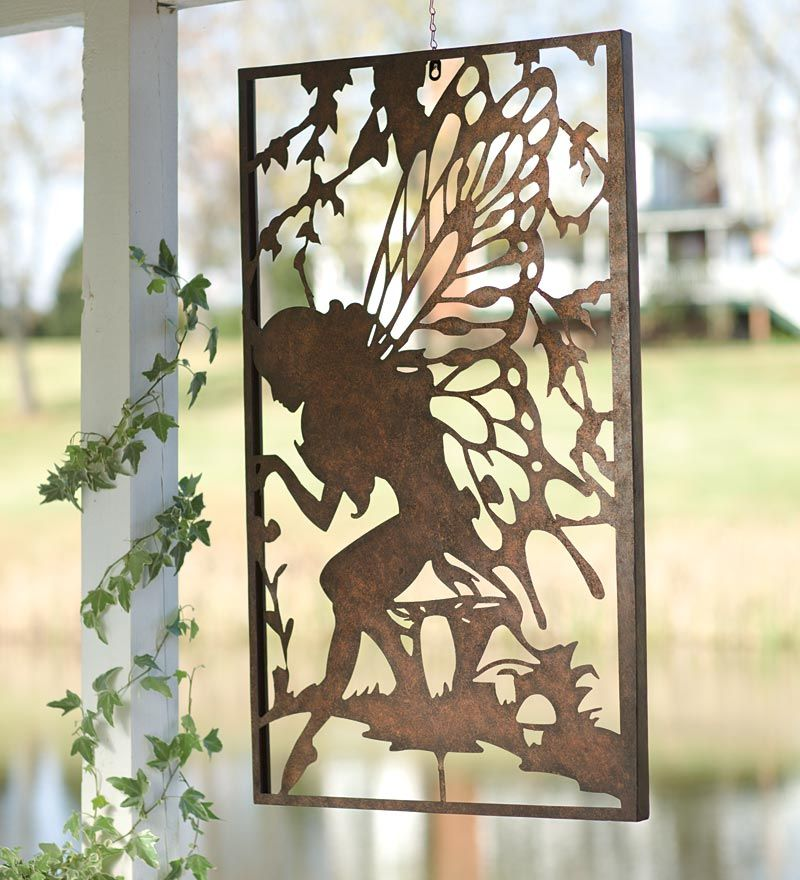 Windweather Metal Fairy Wall Art Metal Garden Wall Art