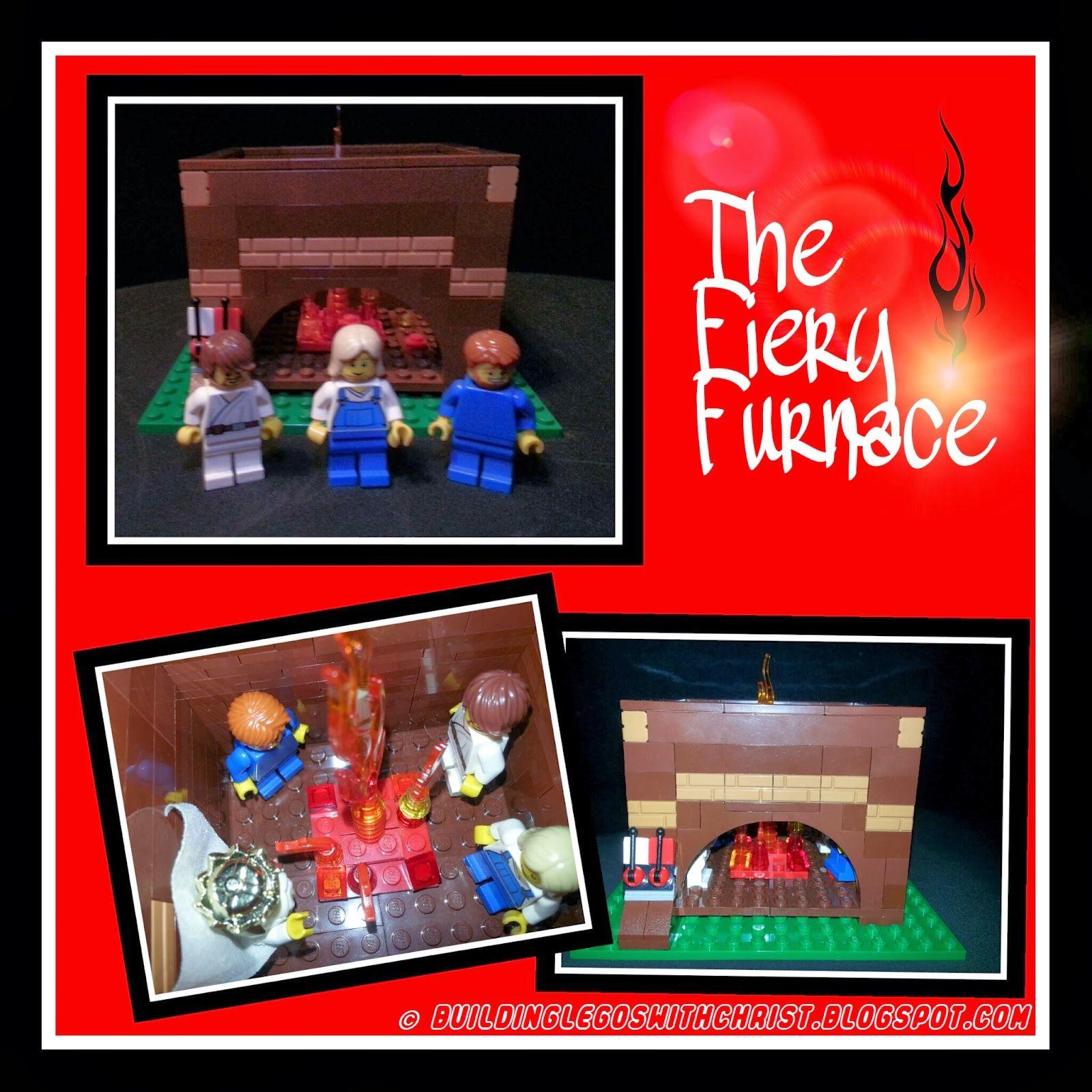 biblical lego creation of shadrach meshach abednego kids