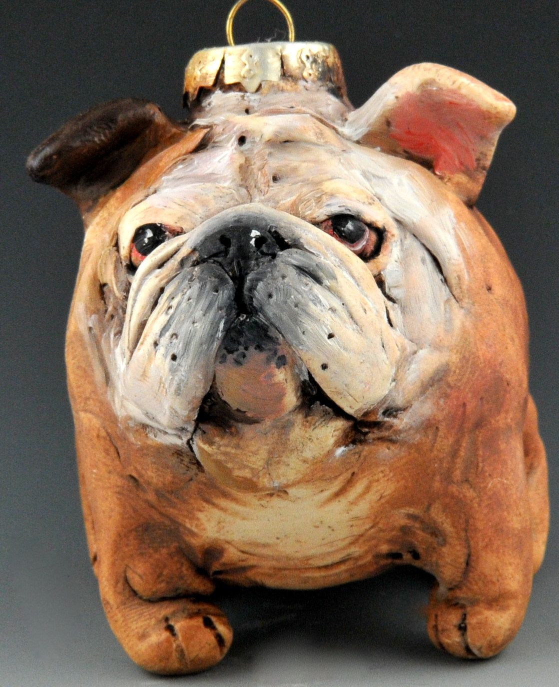Vintage Style Bulldog Ornie By Uncommoncreatures On Etsy 50 00