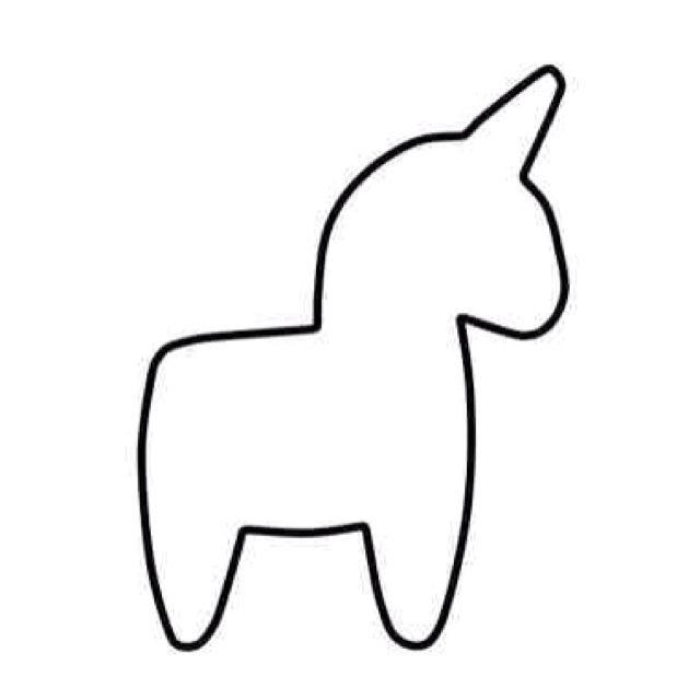 Unicorn Template Www Imgkid Com The Image Kid Has It Unicorn Pattern Unicorn Outline Felt Toys