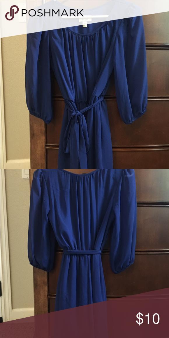 Blue dress Blue dress never worn Dresses Midi