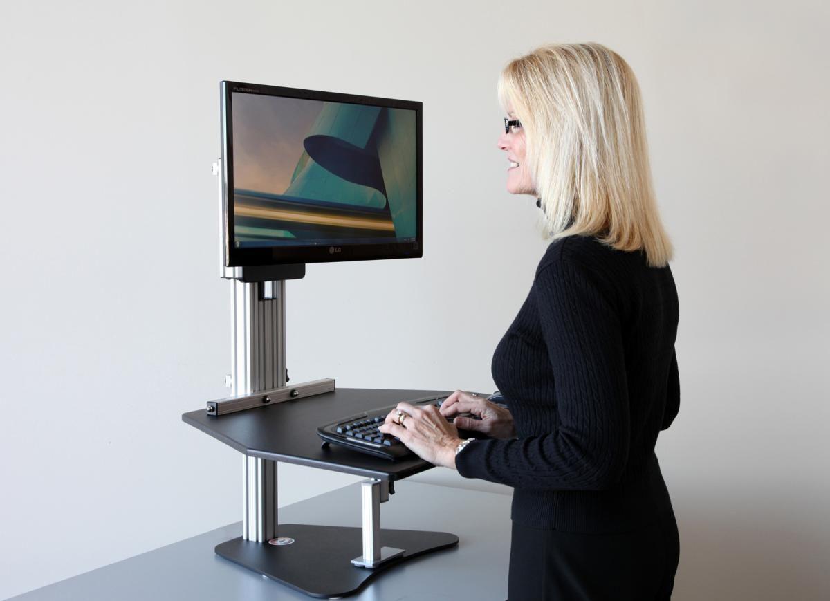 Adjustable Height Desk Turn your desk into a standing desk Live