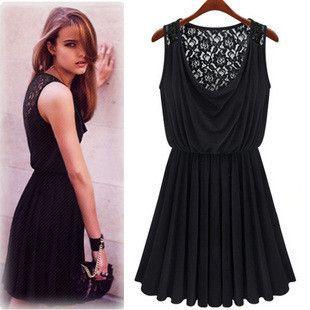lace sleeveless one-piece dress MY0106FY