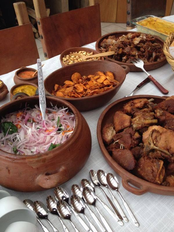 A Traditional Criollo Peruvian Breakfast Served In Clay PotsPeruDelights