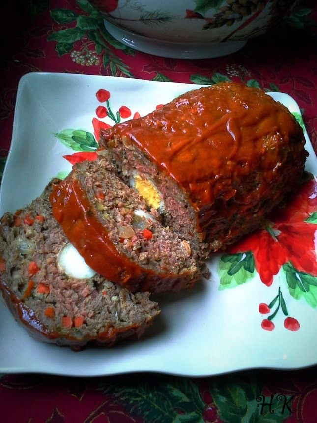 Christmas Meatloaf.Pastel De Carne Navideno Christmas Meatloaf Mexico And