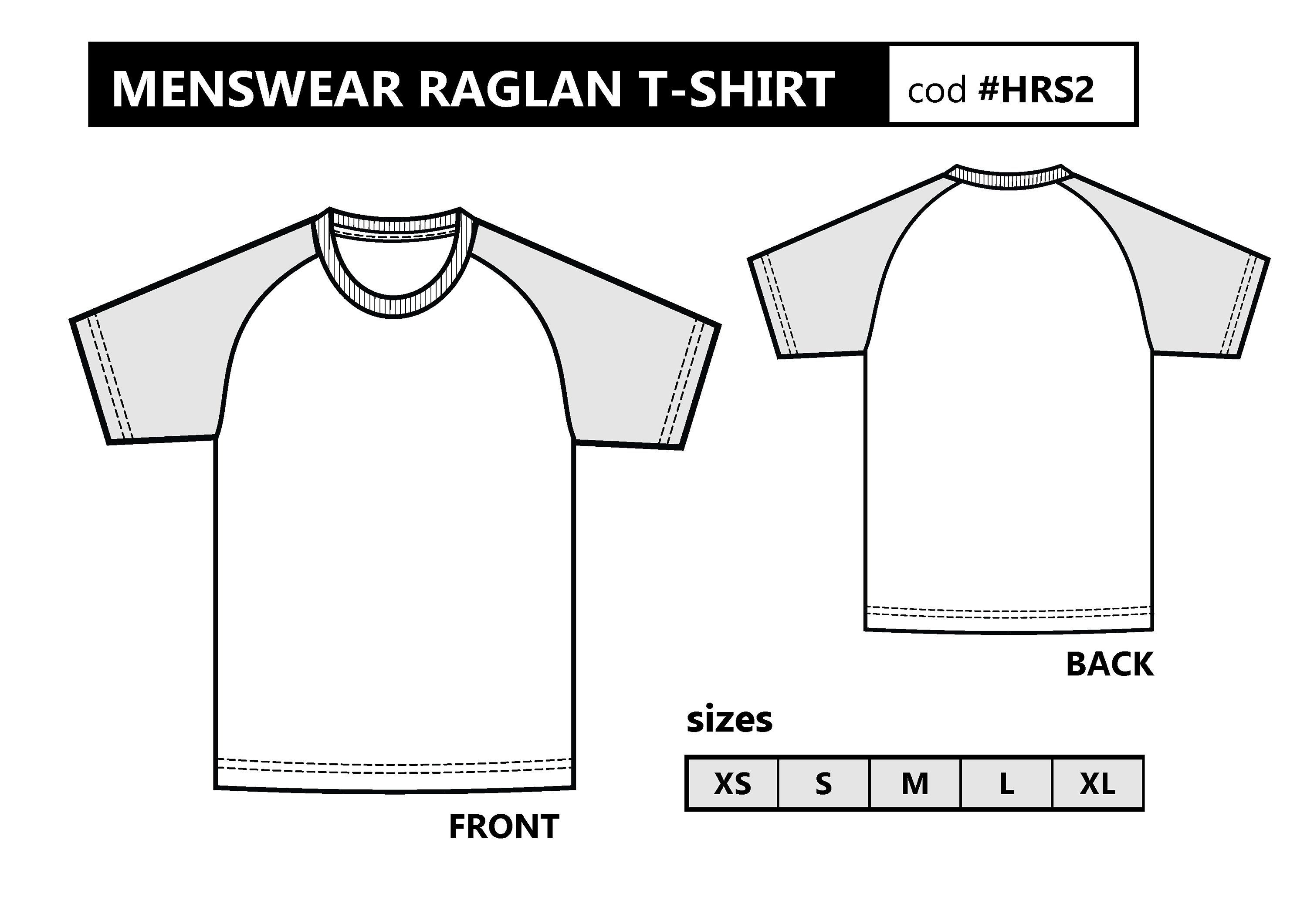 photo about T Shirt Pattern Printable named PDF Sewing Habit. MENSWEAR Raglan sleeve T-blouse. Xs in direction of Xl