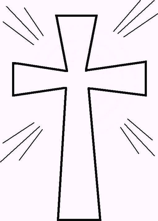 9 Easy Easter Egg Crafts For Kids First Communion Banner Cross Coloring Page Communion Banner