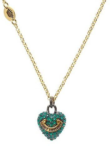 Juicy Couture Jewelry Puff Pave Heart Wish Necklace Holiday Adds