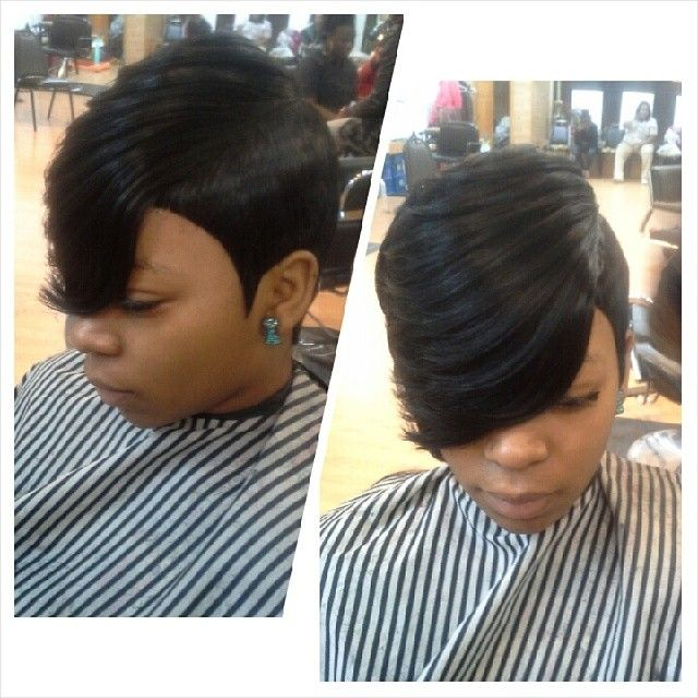 27 Piece Feather Side 27 Piece Hairstyle Short Hair Styles Hair