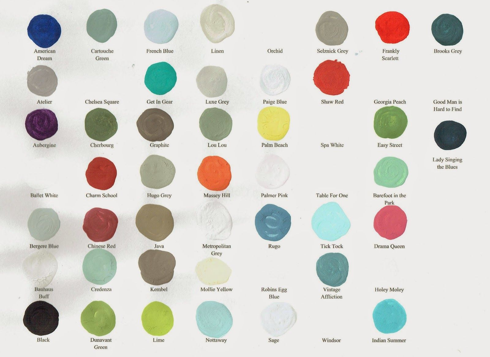 Here Is A Current Chart Of All Amy Howard One Step Paint Colors Available In Our Store Amy Howard Paint Amy Howard Chalk Paint Amy Howard Chalk Paint Colors
