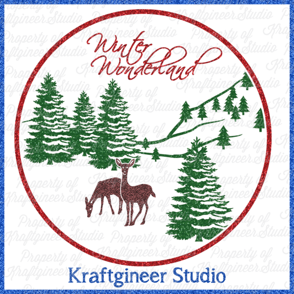 Christmas SVG Winter SVG  Scene SVG by Kraftgineer Studio (Kraftgineer.com) Works on Cricut Explore, Silhouette, Eclips, and any other cutter that uses SVGs