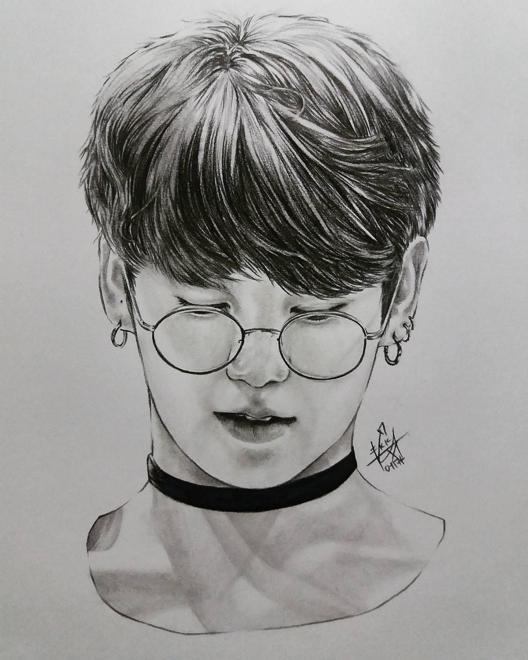 Image result for jungkook drawing (With images) Drawings
