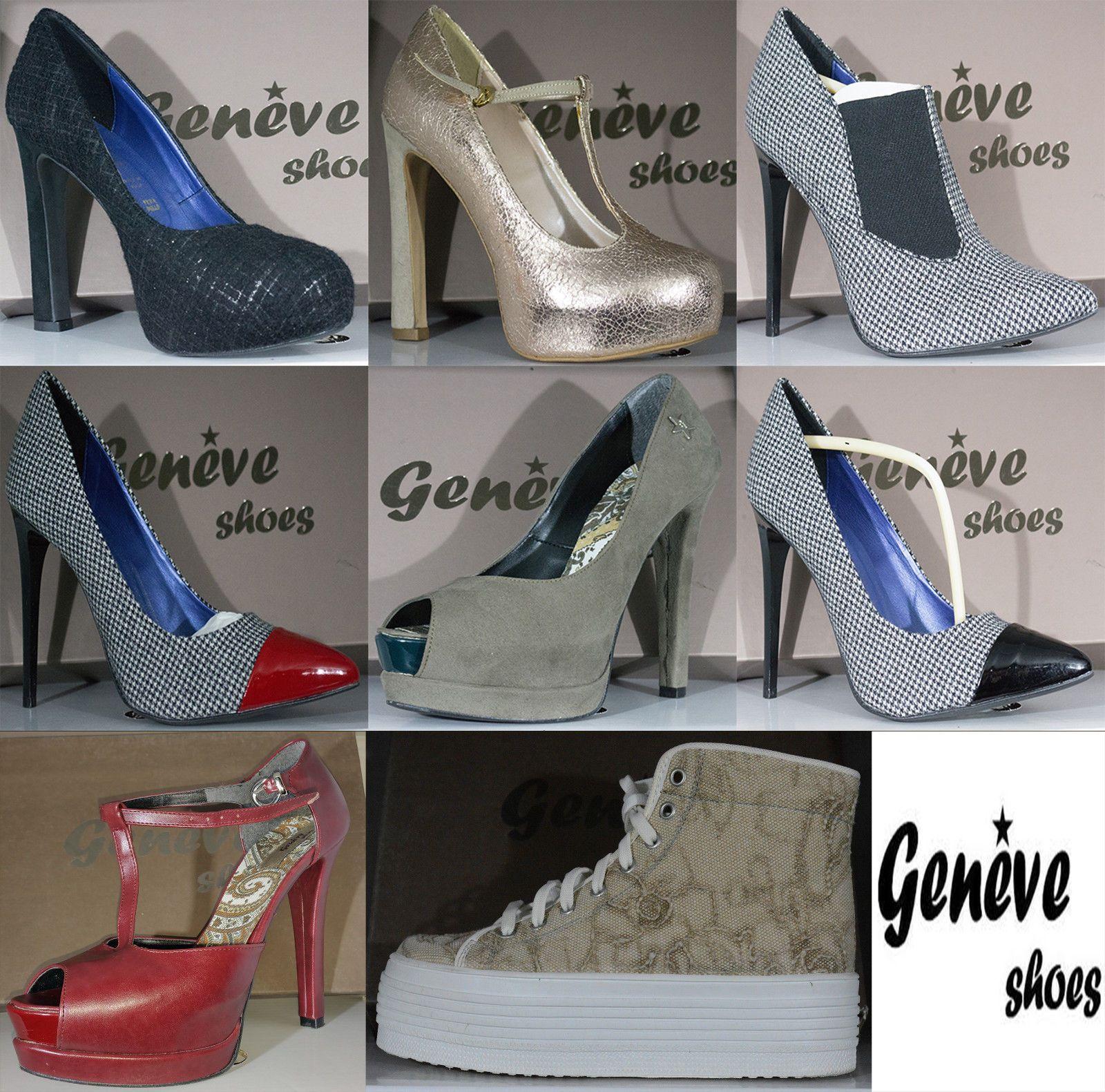 Scarpe Donna Decolletè Zeppa Woman Shoes Anyi Lu MADE ITA Nero Camoscio Schuhe