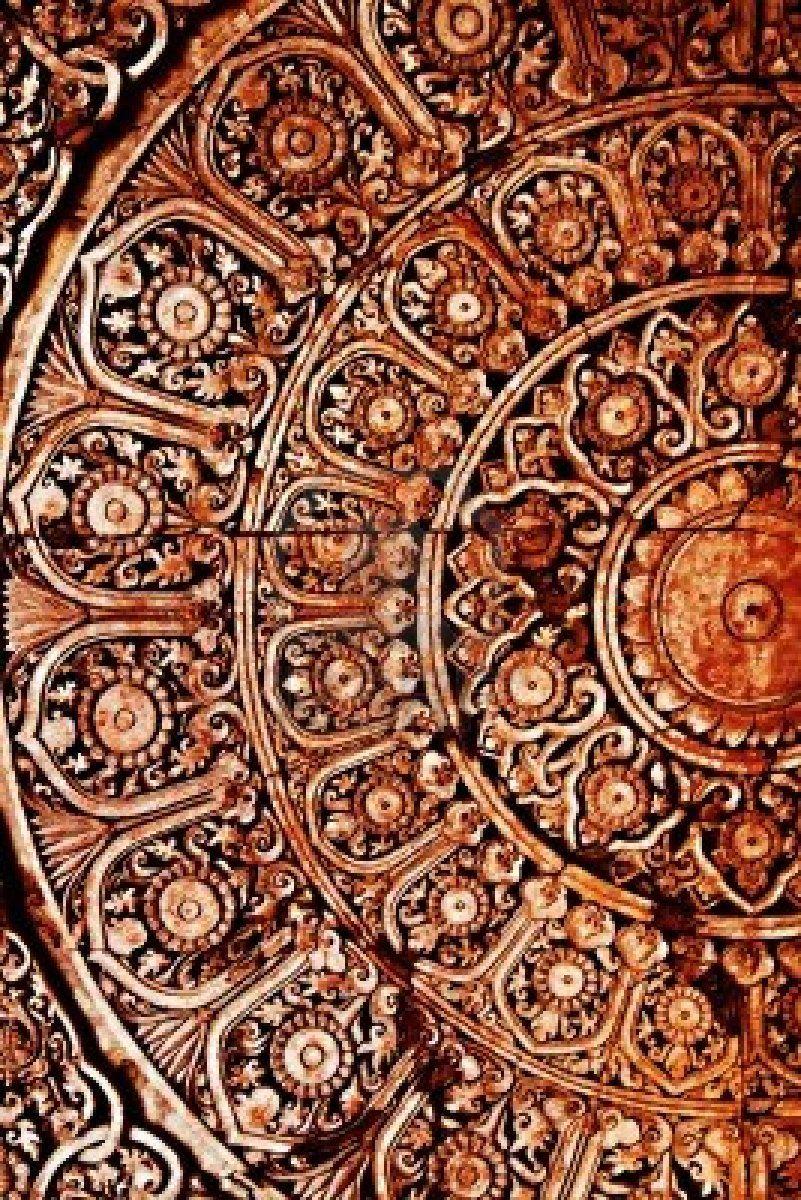 Thai pattern handmade wood carvings chiangmai thailand carvings