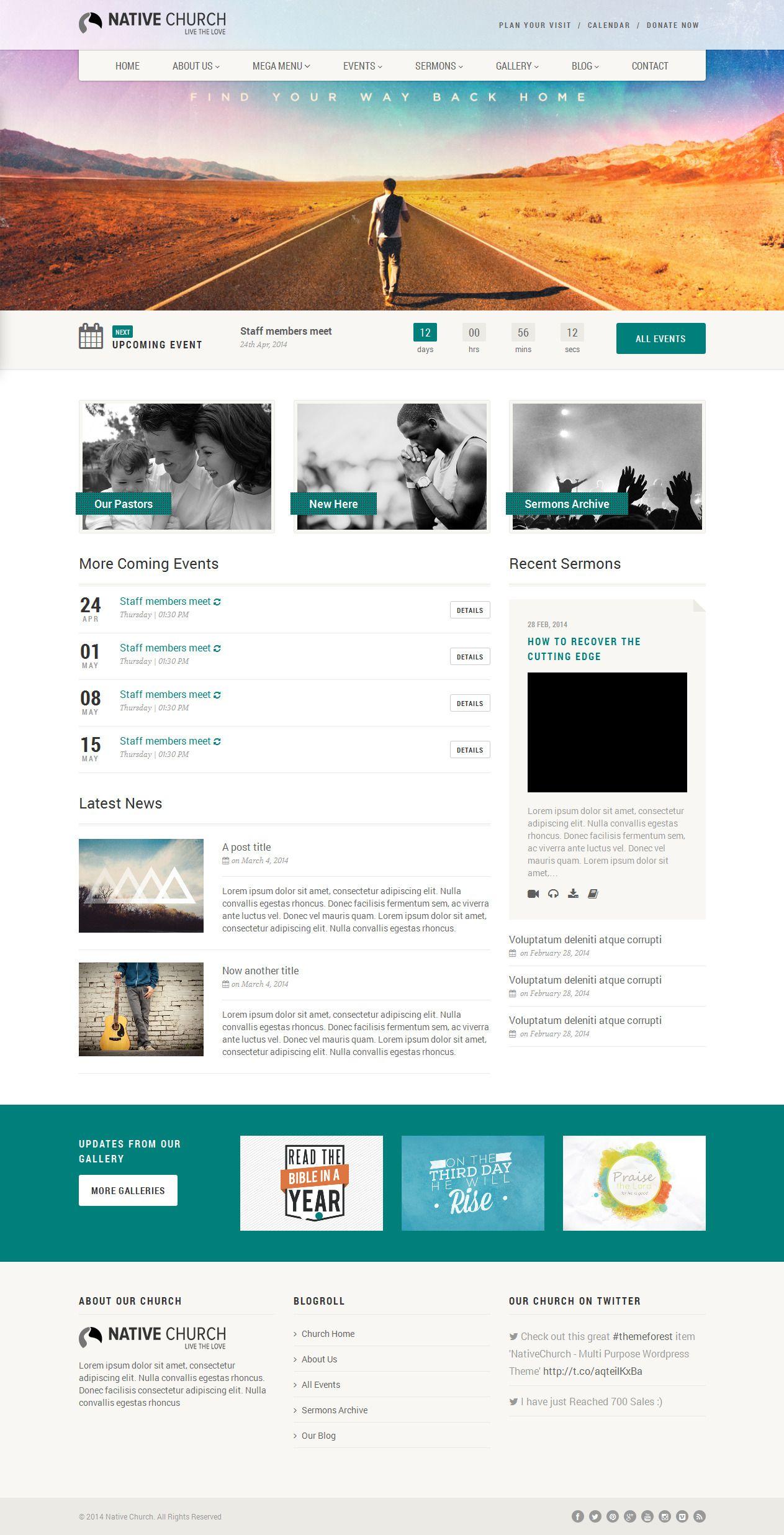Nativechurch From Themeforest A Stunning Wordpress Theme Web Development Design Web Template Design Interactive Design