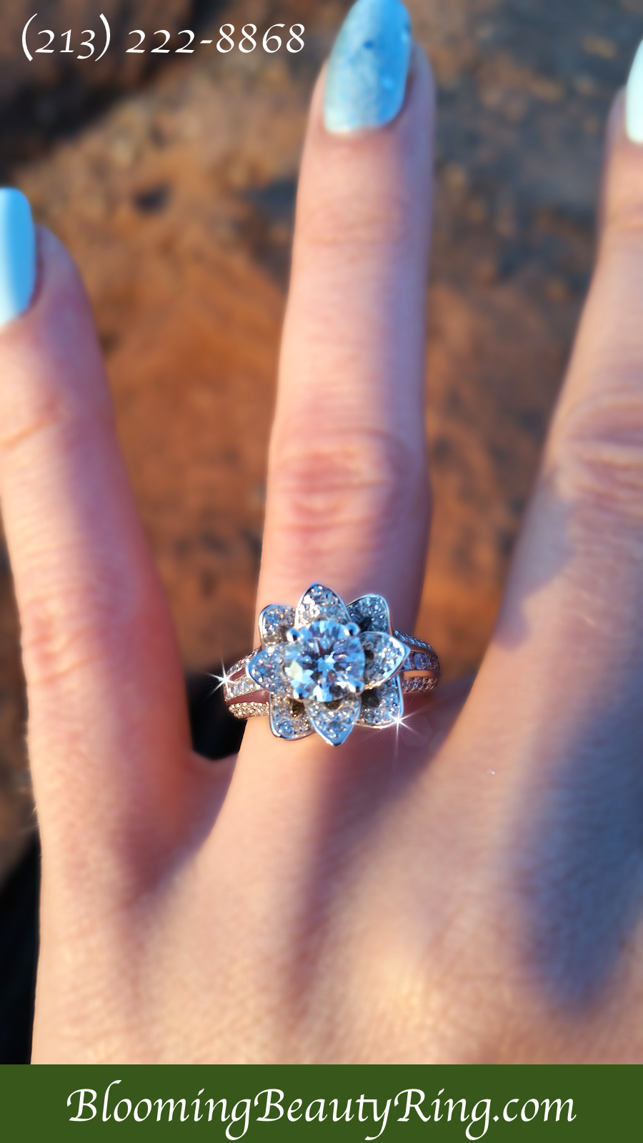 BloomingBeautyRing.com  (213) 222-8868 - This #EngagementRing picture taken and…