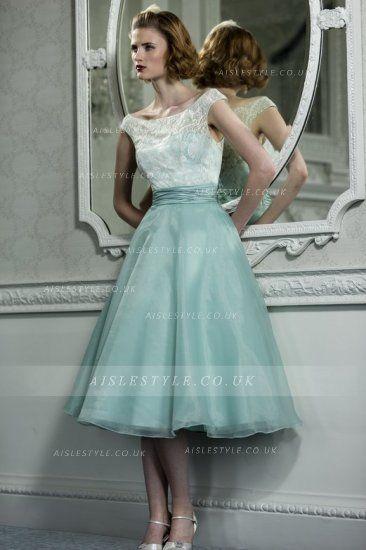 Teal Lace Vintage Bridesmaid Dresses