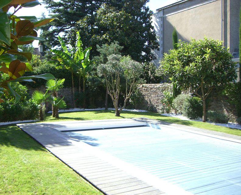 Aménagement exotique autour d\'une piscine privative   exterieur ...