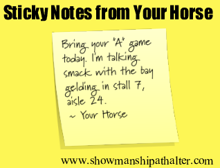 Talking Smack!   #showmanship #showmanshipathalter   http://www.showmanshipathalter