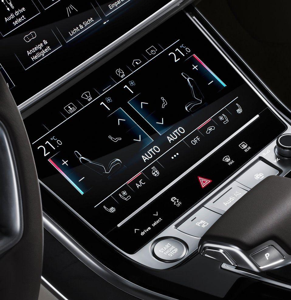Bmw I8 Dashboard: 2018 Audi A8 L UI-UX Design New Climate Controle Screen