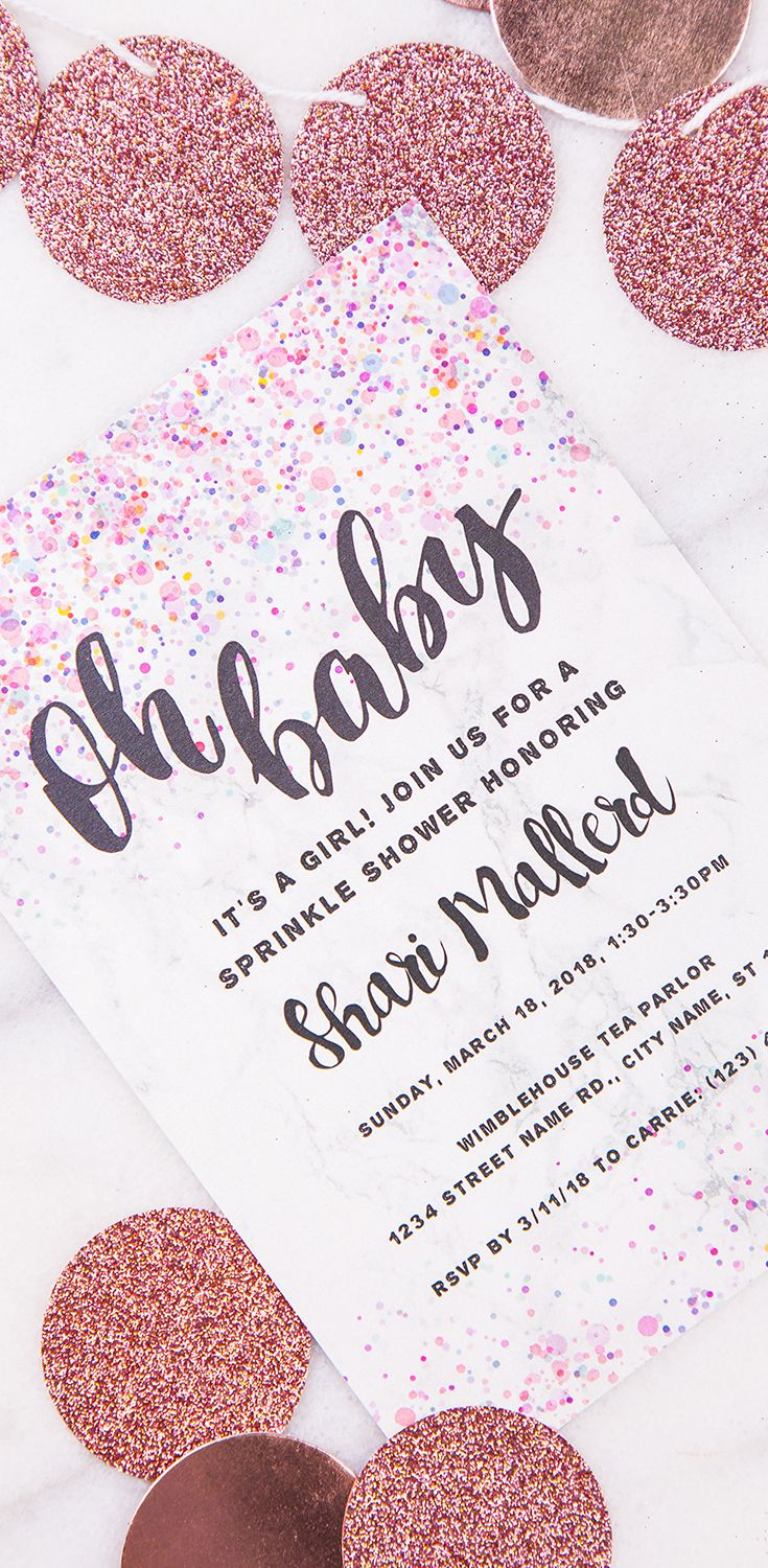 Oh baby it\'s time for your baby shower! Invite them in style with ...