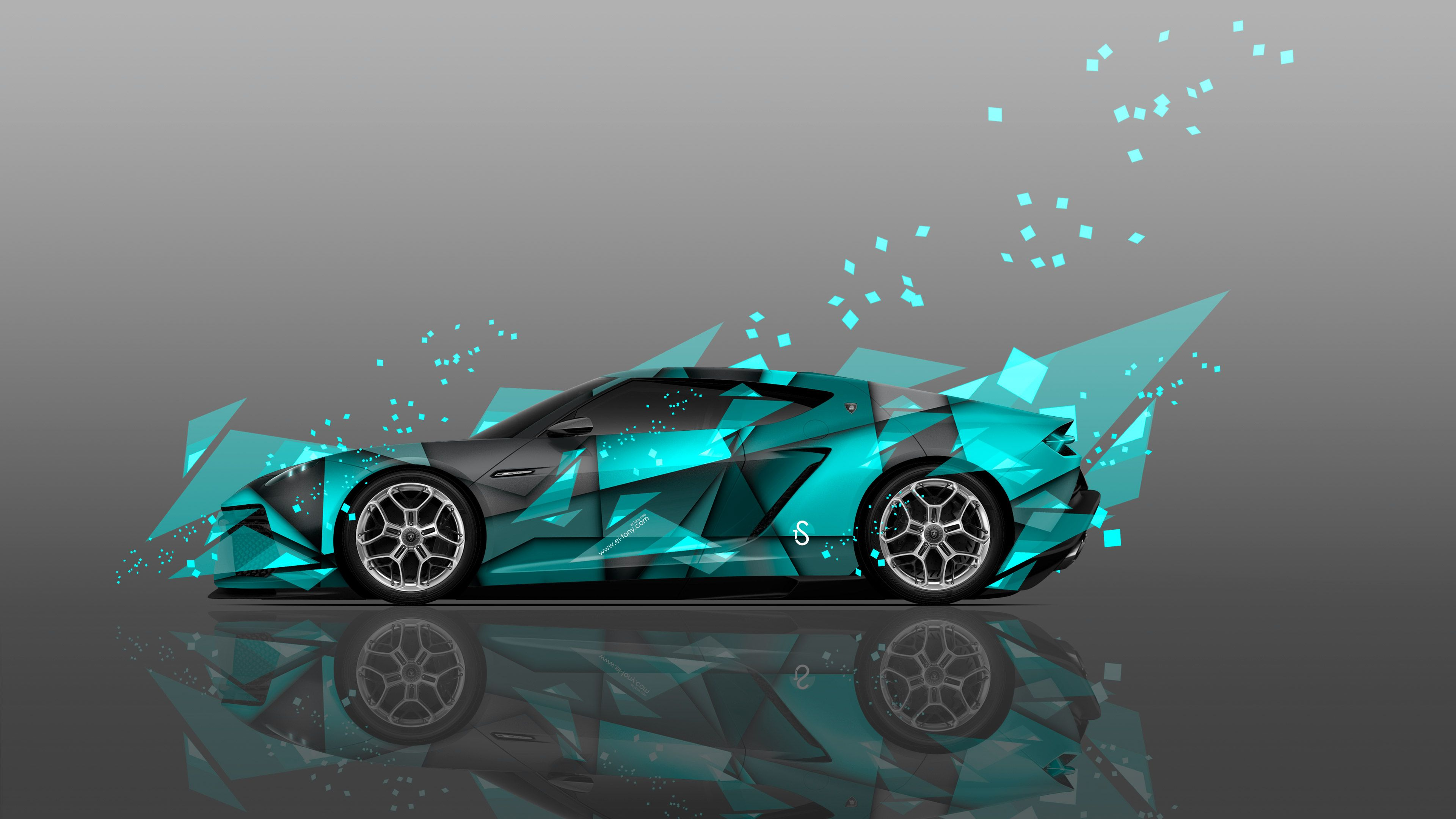 Incroyable Lamborghini Asterion Side Abstract Aerography Car Design By Tony