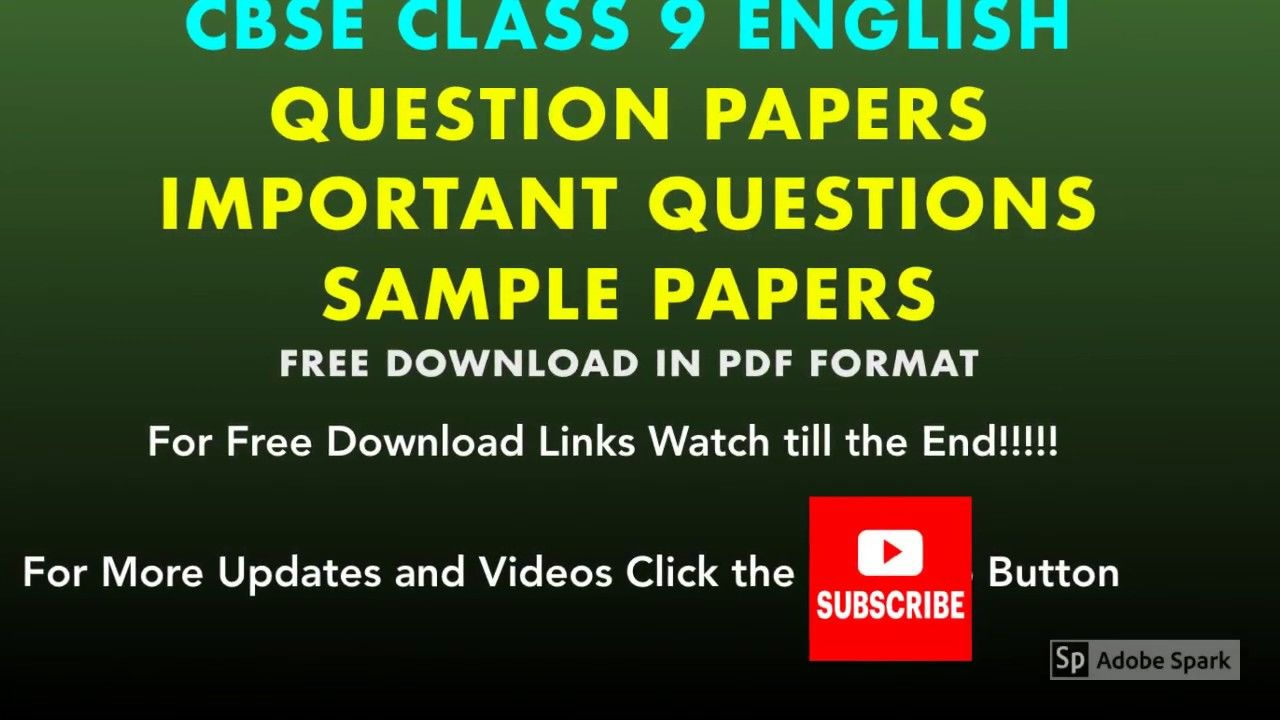 Class 9 English Question Papers Sample Papers Grammar Reading Comp Question Paper Sample Paper This Or That Questions [ 720 x 1280 Pixel ]