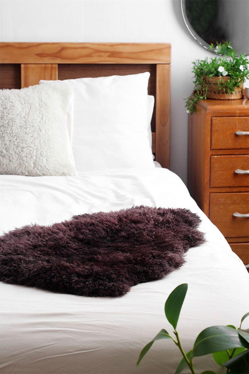 Diy dyed sheepskin how to dye a sheepskin rug eclectic