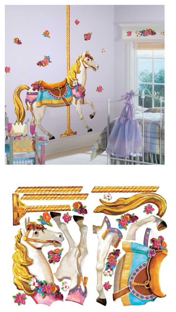Carousel horse giant wall decal wall sticker outlet