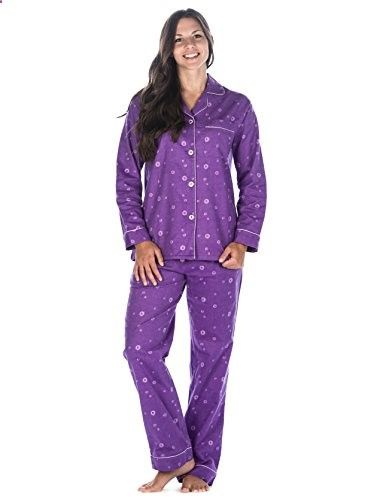 Noble Mount Womens Premium 100% Cotton Flannel Pajama Sleepwear Set (Swirl  - Lavender)  sexy  lounge  pjs 84af114a3