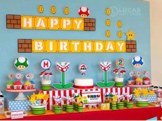 Mario Party Nintendo Birthday Party Super Mario Bros Birthday Party Mario Birthday Banner