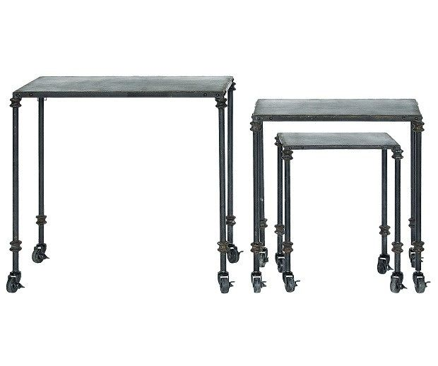 Merveilleux Metal Nesting Tables | Tables On Casters