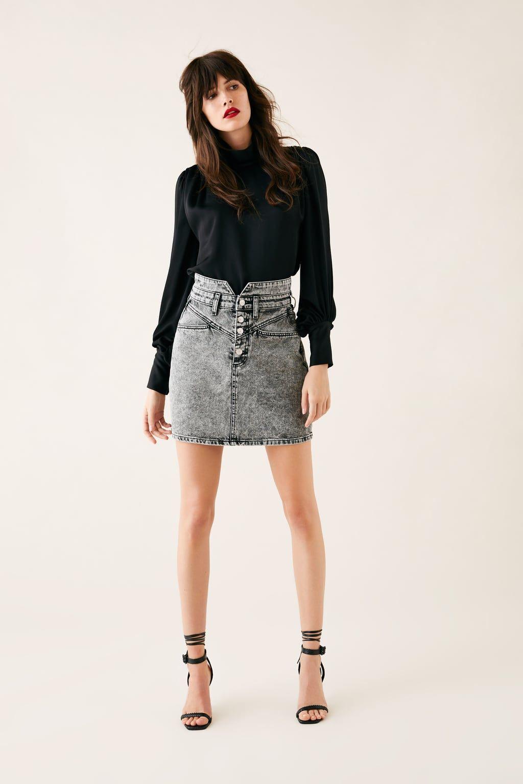2b0e86736 Mini skirt zw premium '80s mini acid black in 2019   Zara fashion ...