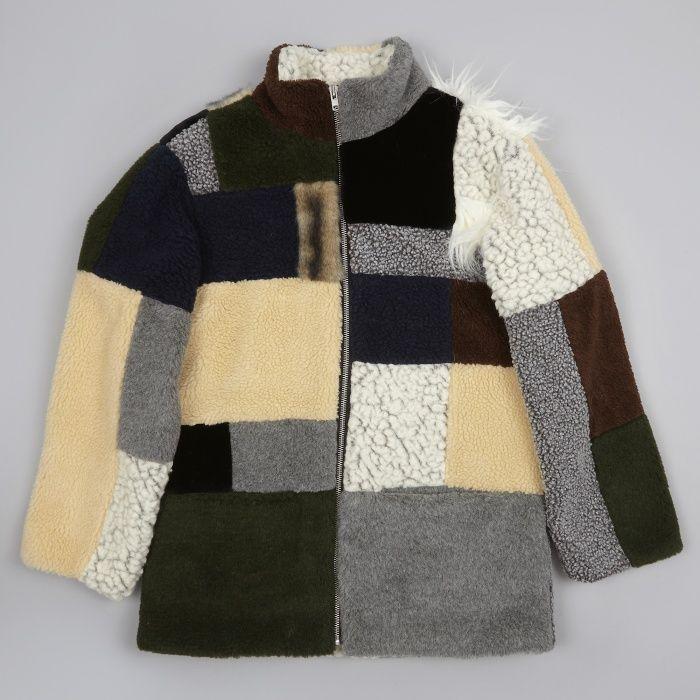 03c37f0e7 Gosha Rubchinskiy Fake Fur Jacket Patchwork - Combo | Mode masculine ...