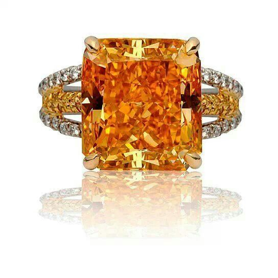 Astounding vivid orange diamond ring! Ever seen anything like it?