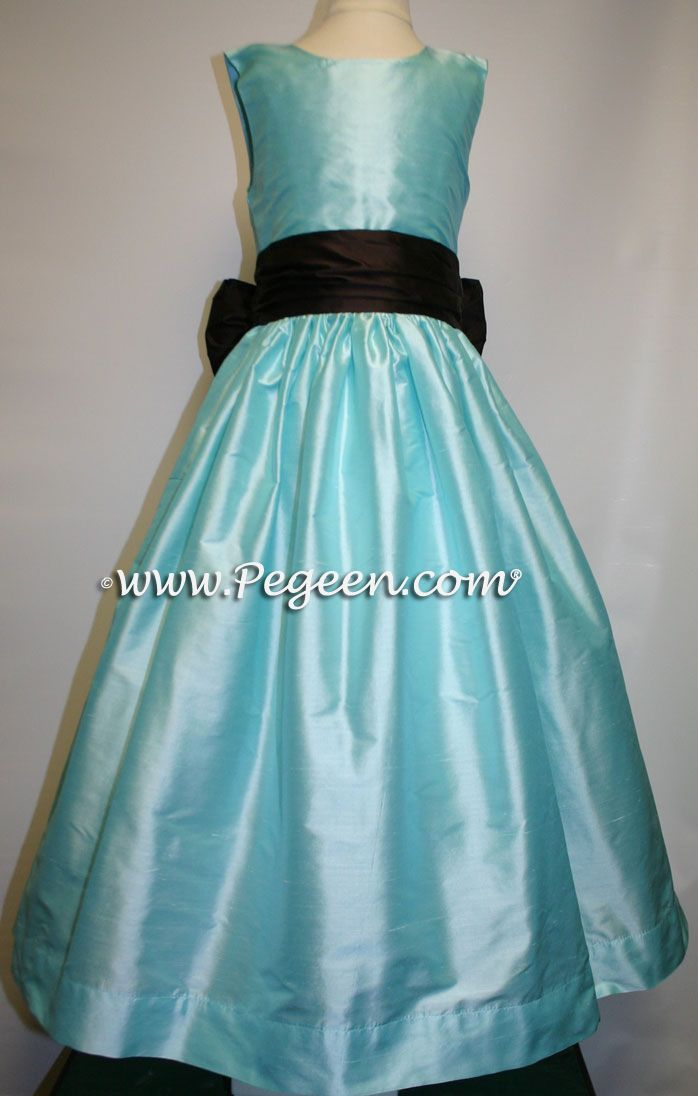 Pond (Tiffany) and semi-sweet brownflower girl dresses