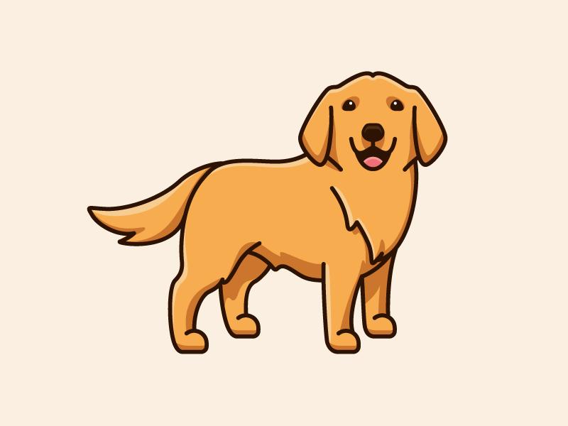 Golden Retriever Pet Logo Design Golden Retriever Drawing